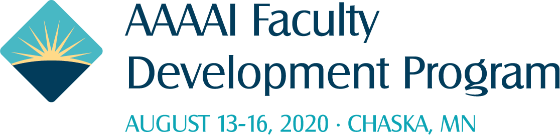 The 2020 AAAAI Faculty Development Program will be held August 13-16, 2020 in Chaska, MN.