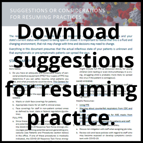 Download suggestions for resuming practice