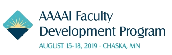 2019 AAAAI Faculty Development Logo