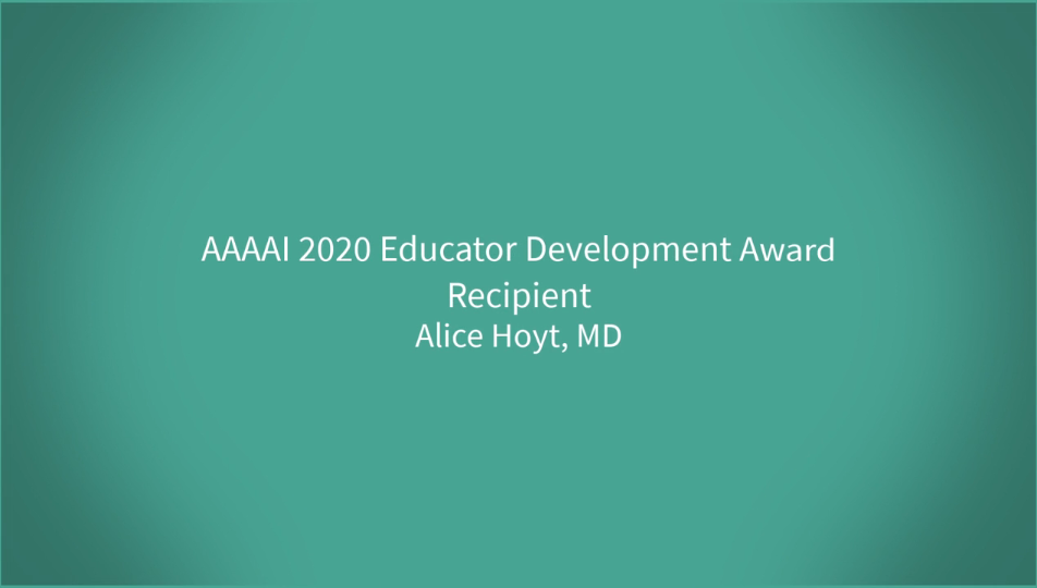 Alice Hoyt Educator Development Award