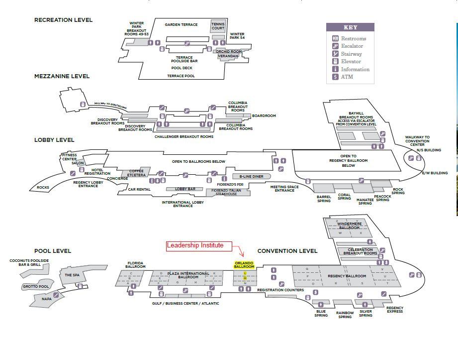 Hyatt Orlando map