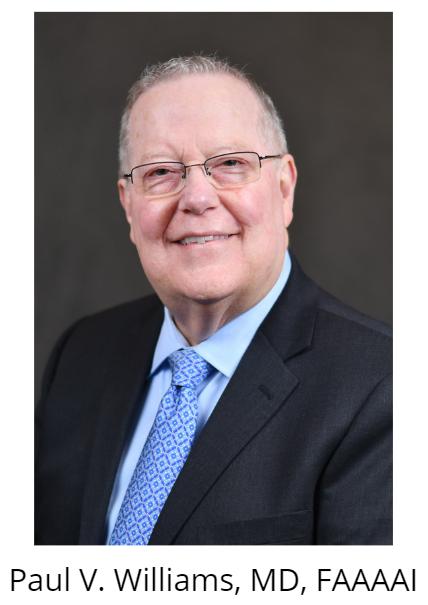 Paul V. Williams, MD, FAAAAI