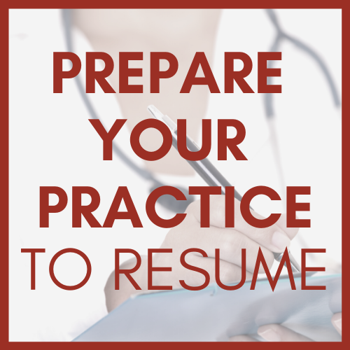 Prepare Your Practice to Resume