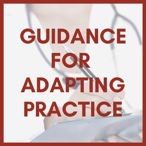 Image with Link to Guidance for Adapting Practice