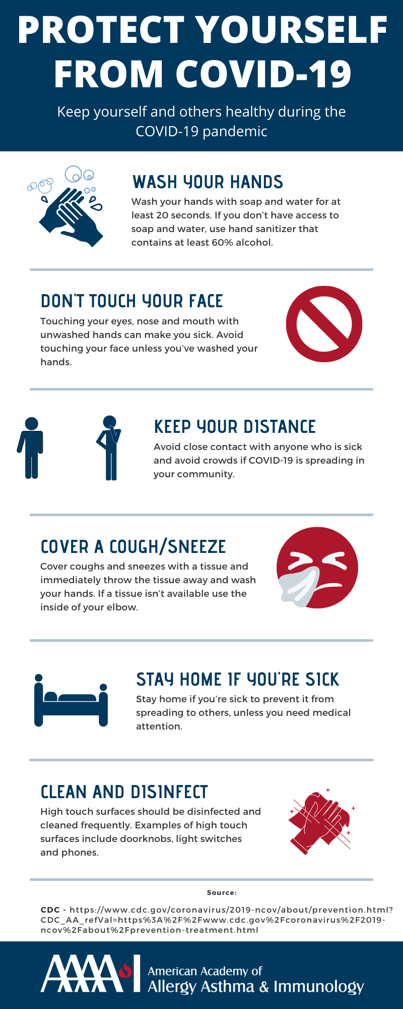 Protect Yourself from COVID-19 Infographic