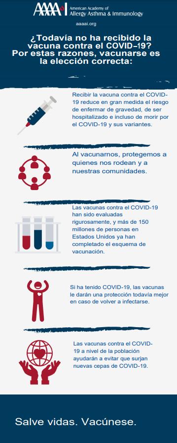 Razones para vacunarse contra el COVID-19