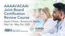 2020 AAAAI/ACAAI Joint Board Certification Review Course logo